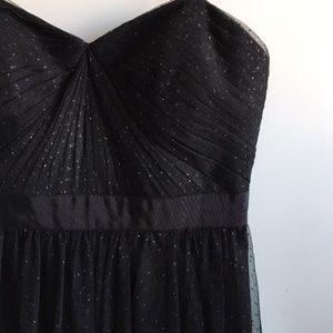 Adrianna Papell Black Strapless Maxi Dress